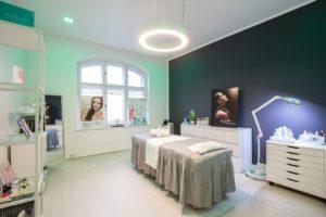 Interieuraufnahme Behandlugsraum Kosmetikstudio Berlin Tegel