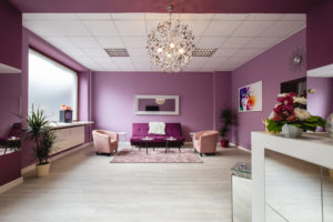 Interieuraufnahme Kosmetikstudio Warteraum in Berlin