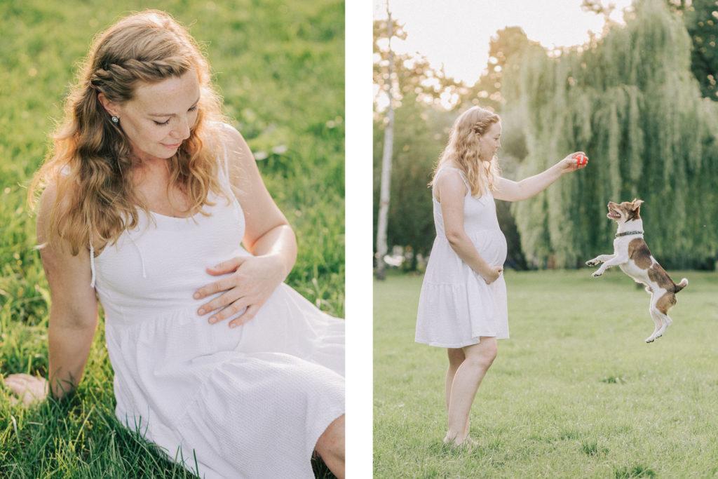Schwangerschaftsfotografie im Park